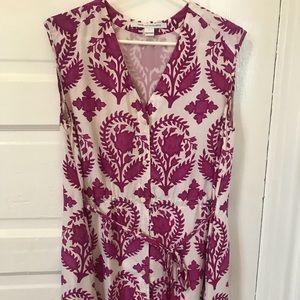 DIANE von FURSTENBERG Lilac Dress w/ Indian Decals